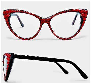 Fashion Crystal Eyewear-Red