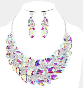 Crystal AB Necklace Set