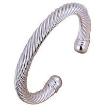 Load image into Gallery viewer, Cuff Silver Bangle