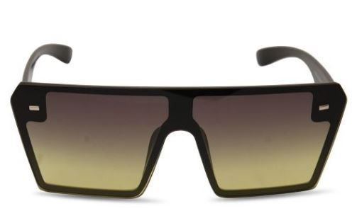 LaLa Visor Square Green Mirrored Sunglasses