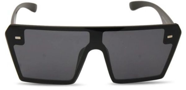 LaLa Visor Square Sunglasses - Black
