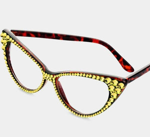 Fashion Crystal Eyewear-Citrine