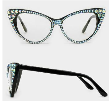 Fashion Crystal Clear Cat Eyeglasses
