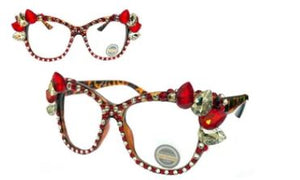 Brown/Black/Red/Clear Cat Eyewear