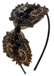 DRAMATIC BEADED BOW handmade by MARIE HAYDEN