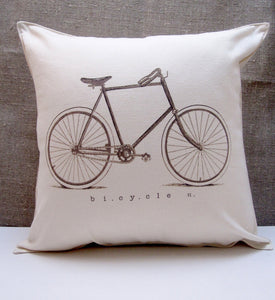 BICYCLE PILLOW handmade by P I ´ L O