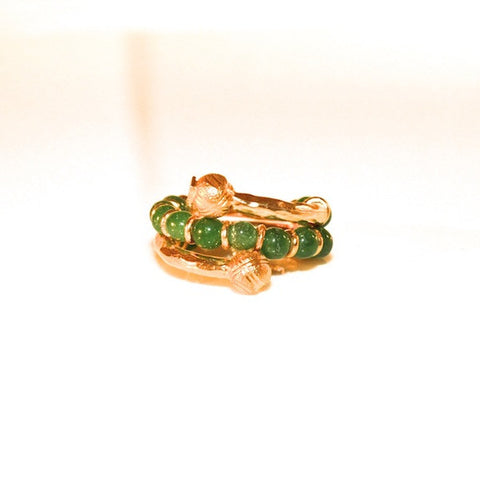 VINTAGE GOLD PLATED EMERALD RING