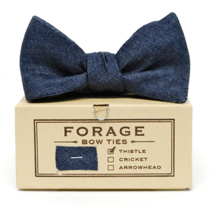 COTTON BOWTIE IN MIDNIGHT handmade by FORAGE