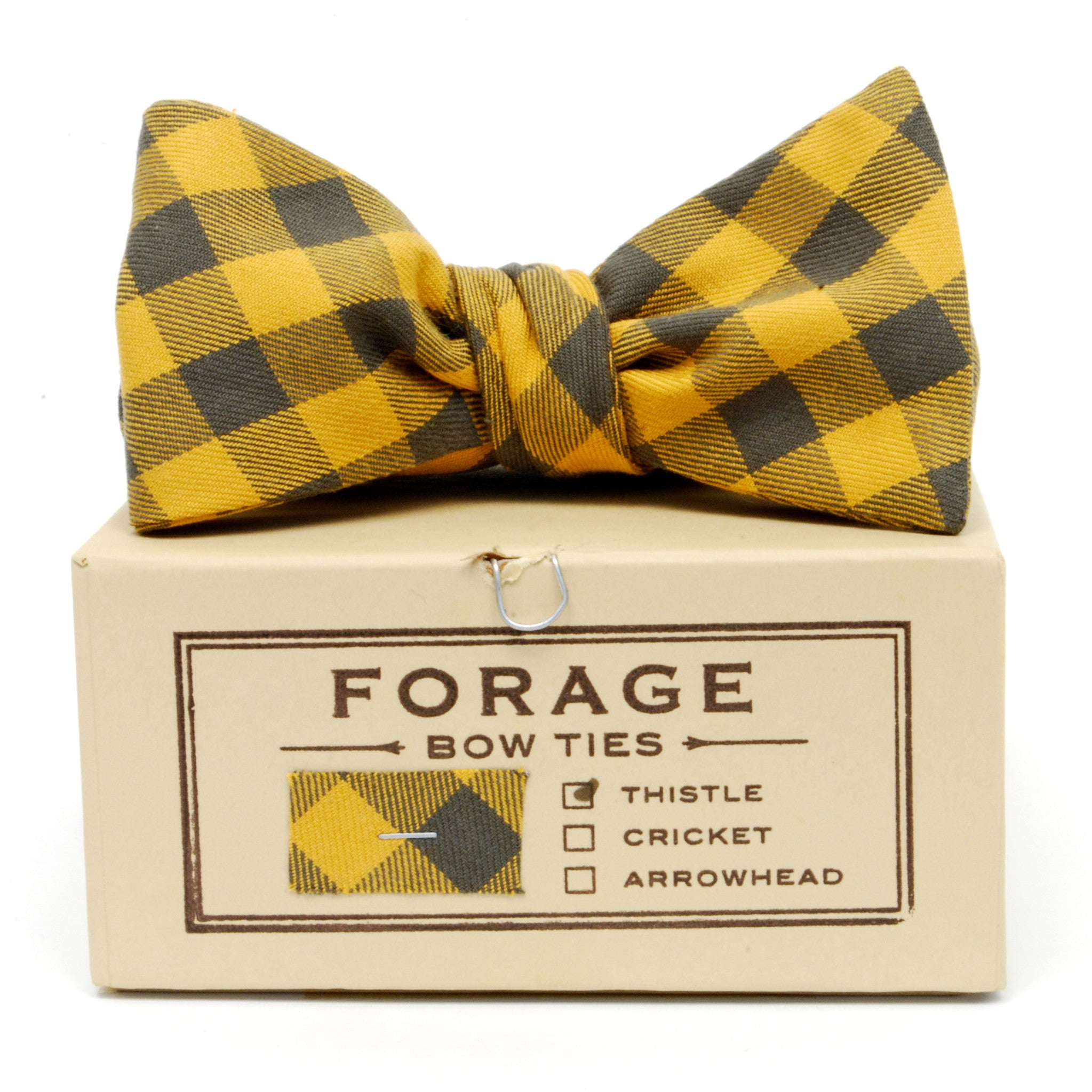 COTTON BOWTIE IN MAIZE handmade by FORAGE