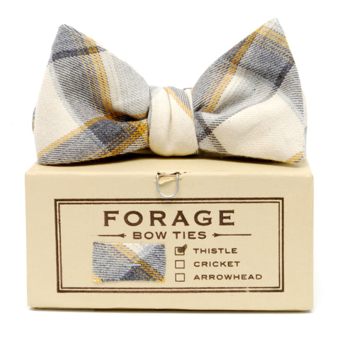 COTTON BOWTIE IN CINDER by FORAGE