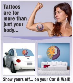 Attention Tattoo Lovers – Why Not Show Off Your Tats On Your Vehicle Or As A Wall Decal?
