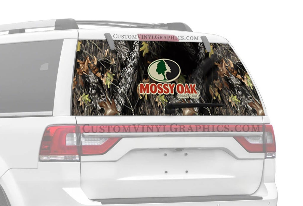 Vantage Point New Breakup With Mossy Oak Logo Rear Window Graphics