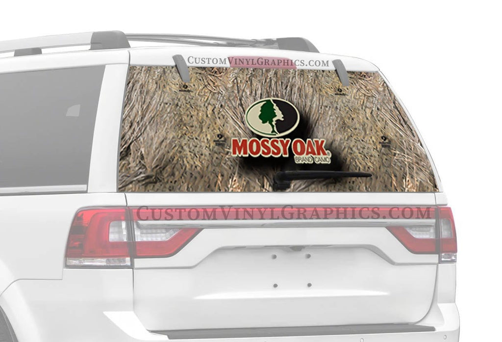 Vantage Point Brush With Mossy Oak Logo Rear Window Graphics