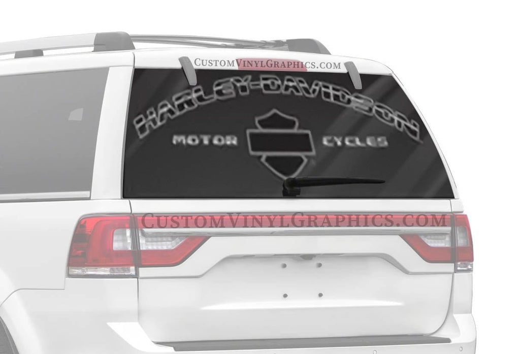 Vantage Point Arched Modern Harley-Davidson Rear Window Graphic