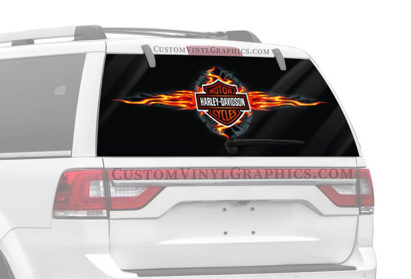 Vantage Point Hot Spin Harley-Davidson Rear Window Graphic