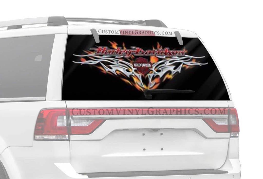 Vantage Point Steel Heart Harley-Davidson Rear Window Graphic