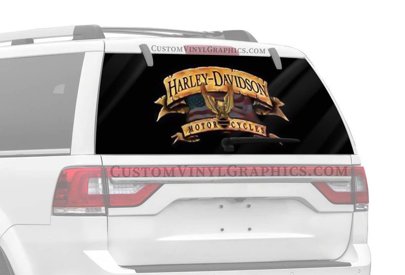 Vantage Point Freedom Banner Harley-Davidson Rear Window Graphic