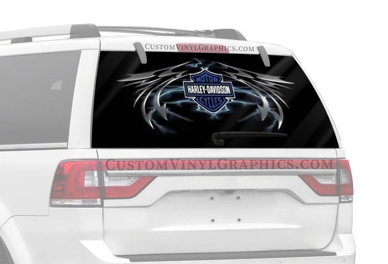 Vantage Point Lightning Wing Harley-Davidson Rear Window Graphic