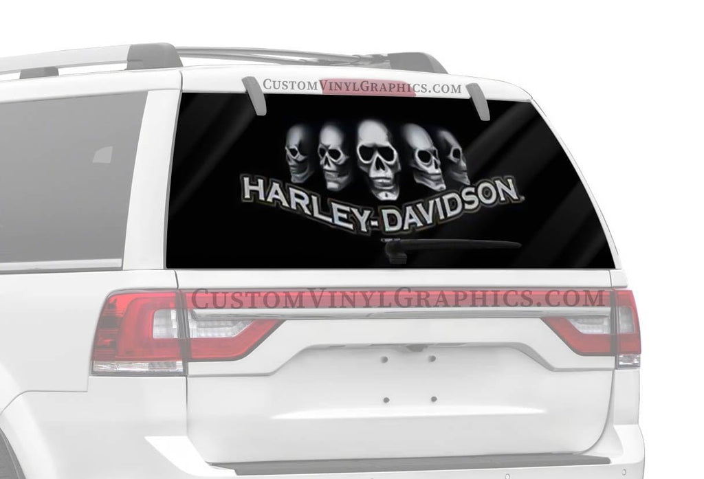 Vantage Point Dark Skull Harley-Davidson Rear Window Graphic