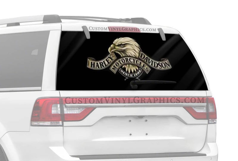 Vantage Point Side View Eagle Harley-Davidson Rear Window Graphic