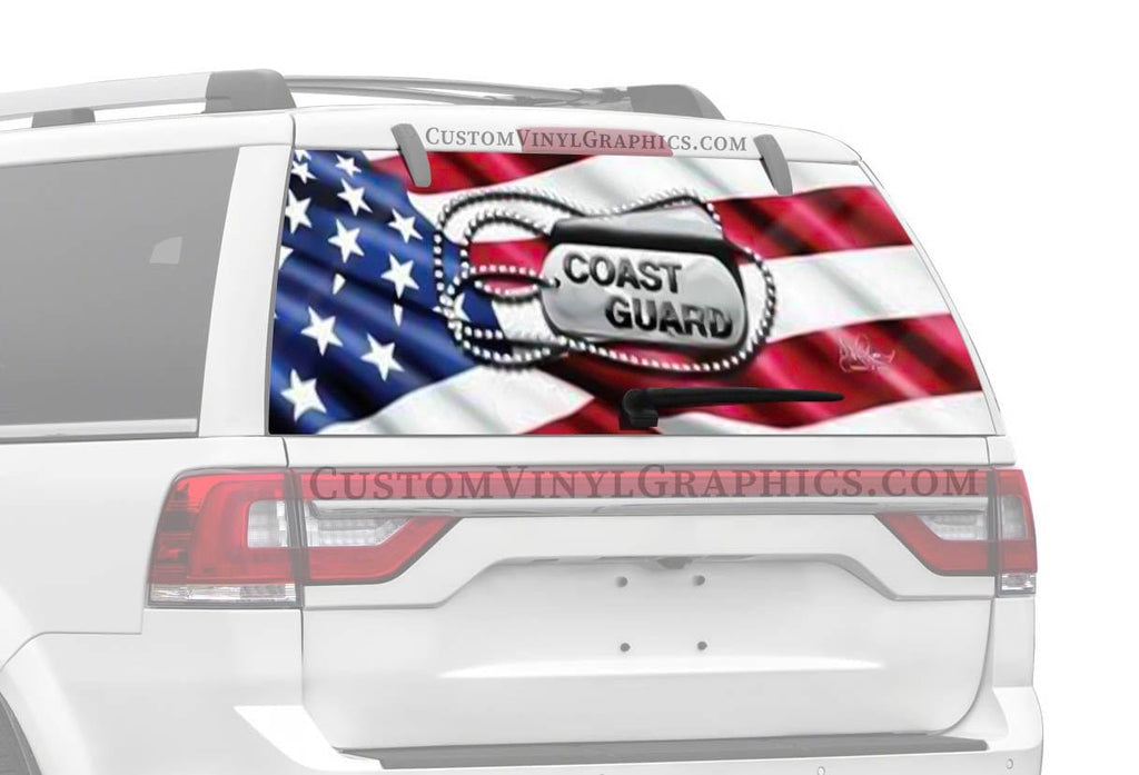 Vantage Point Coast Guard Tags Rear Window Graphic