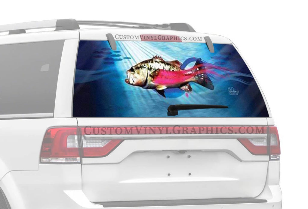 Vantage Point Bass Fish Rear Window Graphic
