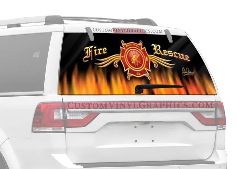 Vantage Point Fire Rescue Rear Window Graphic
