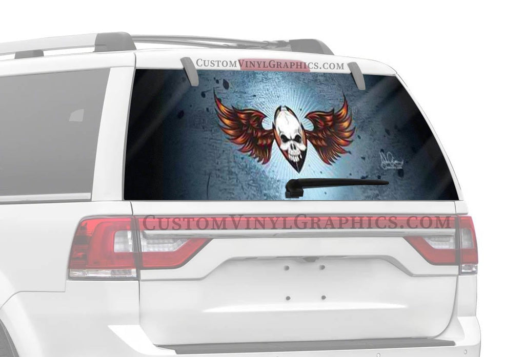 Vantage Point Wing Skull Rear Window Graphic