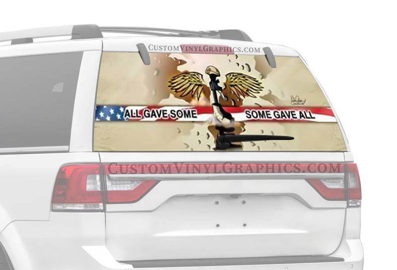 Vantage Point Some Gave All Rear Window Graphic