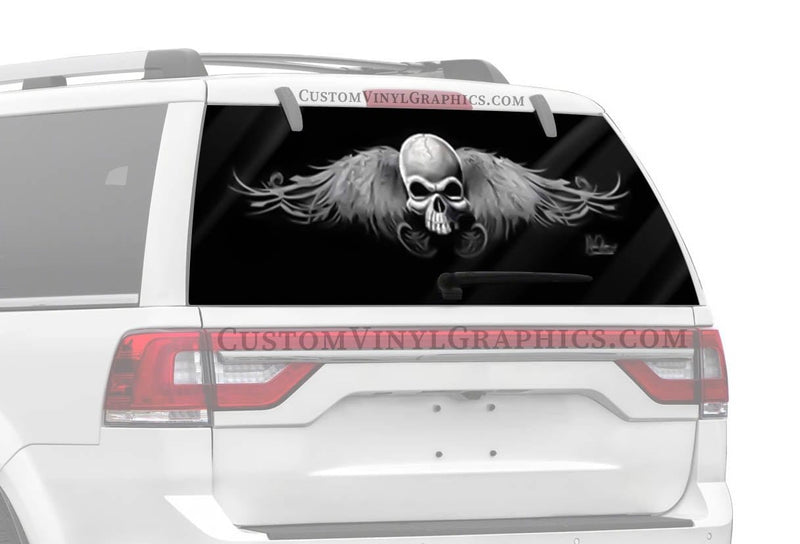 Vantage Point Wing Skull Rocker Rear Window Graphic