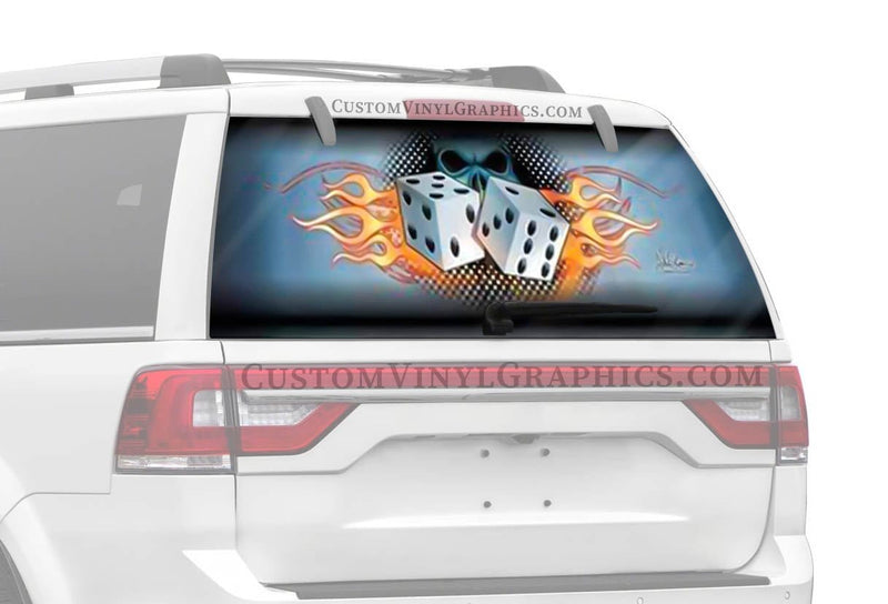 Vantage Point Roll The Dice Rear Window Graphic