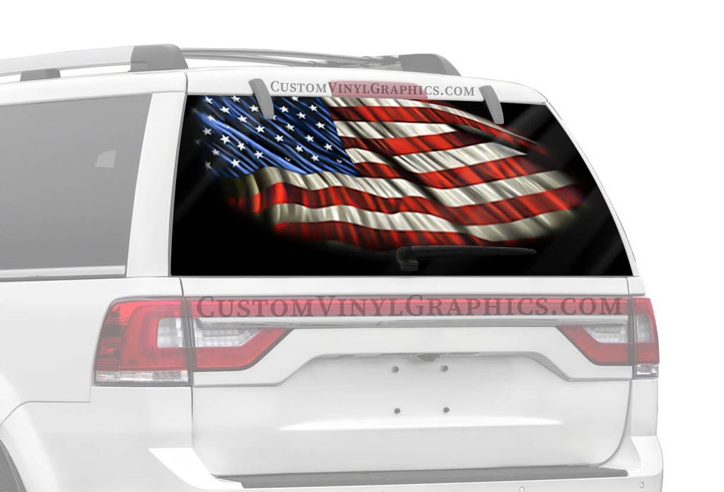 Vantage Point Starry Night American Flag Rear Window Graphic