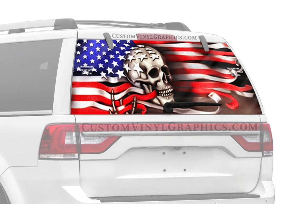 CVG Exclusive Rears Flag Through Skull Rear Window Graphic