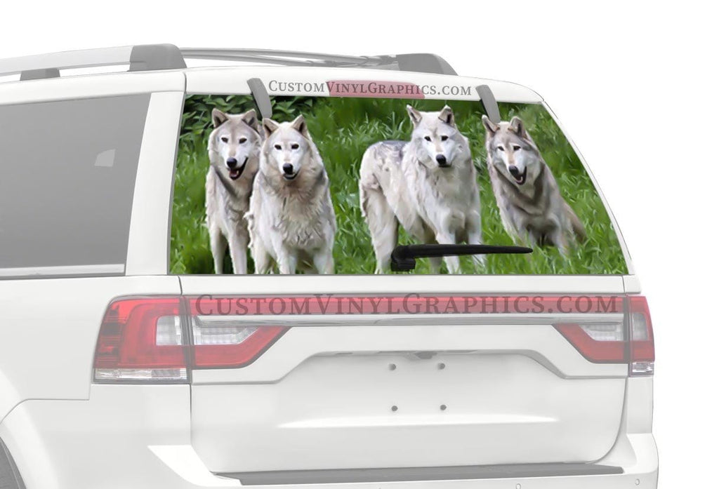 CVG Exclusive Rears Wolf Pack in Grass Rear Window Graphic