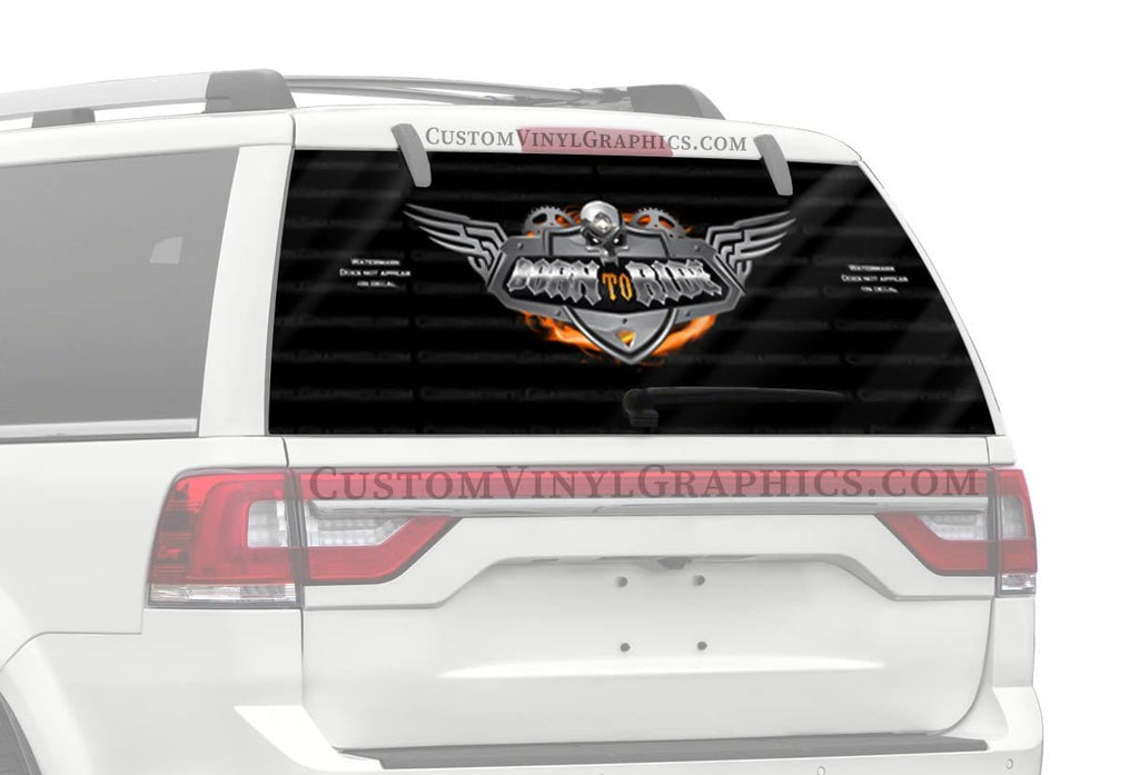 CVG Exclusive Rears Heavy Chrome Rear Window Graphic
