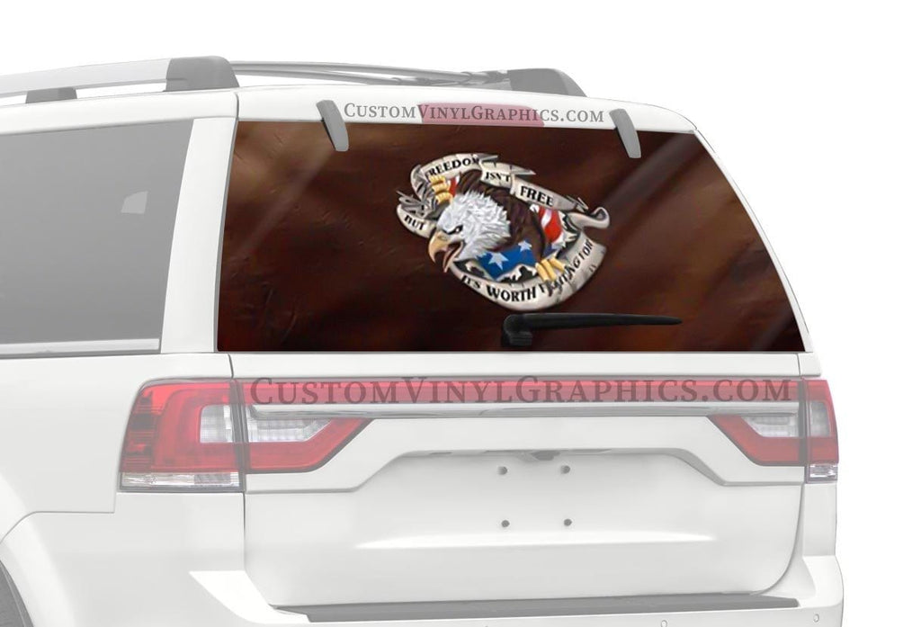 CVG Exclusive Rears Freedom Isn't Free Rear Window Graphic