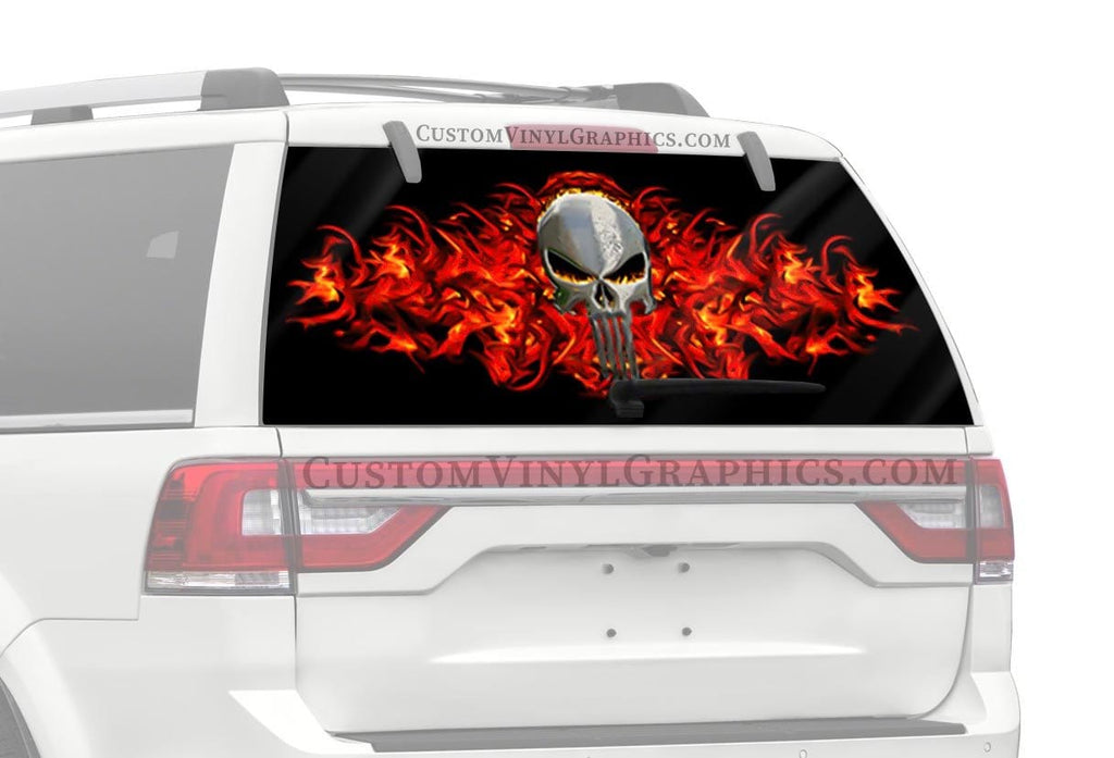 CVG Exclusive Rears Punisher Skull Rear Window Graphic