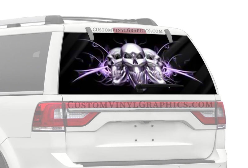 CVG Exclusive Rears Arching Light Purple Rear Window Graphic