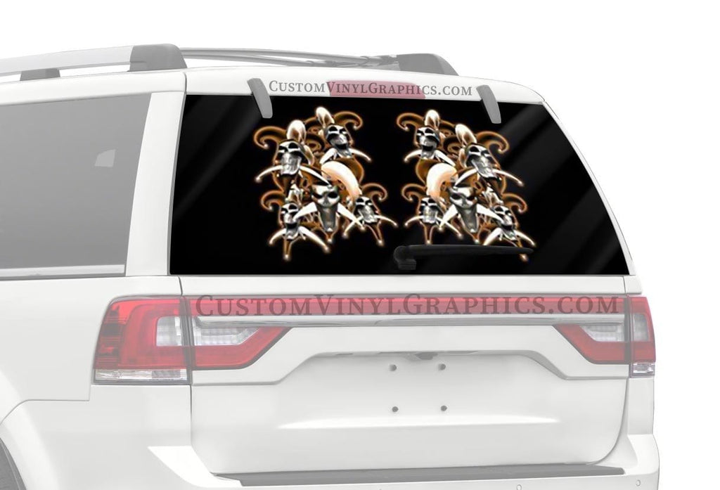 CVG Exclusive Rears Jester Skulls Rear Window Graphic