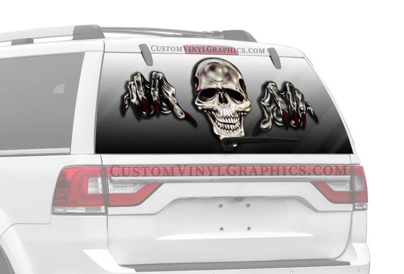CVG Exclusive Rears Gonna Getcha Skull Rear Window Graphic