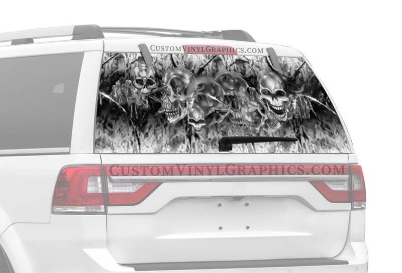 CVG Exclusive Rears Skully Rear Window Graphic