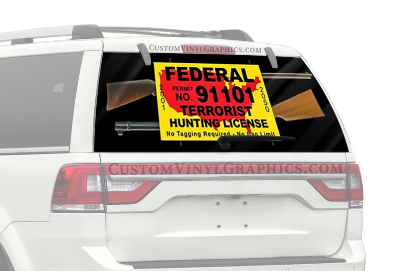 CVG Exclusive Rears Anti-Terrorist Rear Window Graphic