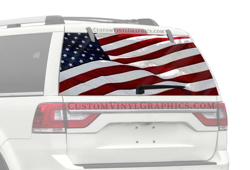 CVG Exclusive Rears USA Flag Rear Window Graphic