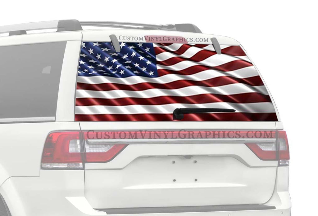 CVG Exclusive Rears USA Flag Wave Rear Window Graphic