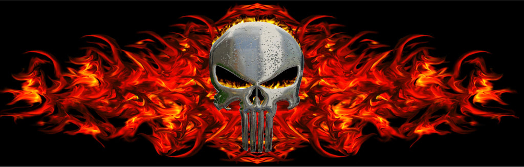 Punisher Skull Rear Window Graphic
