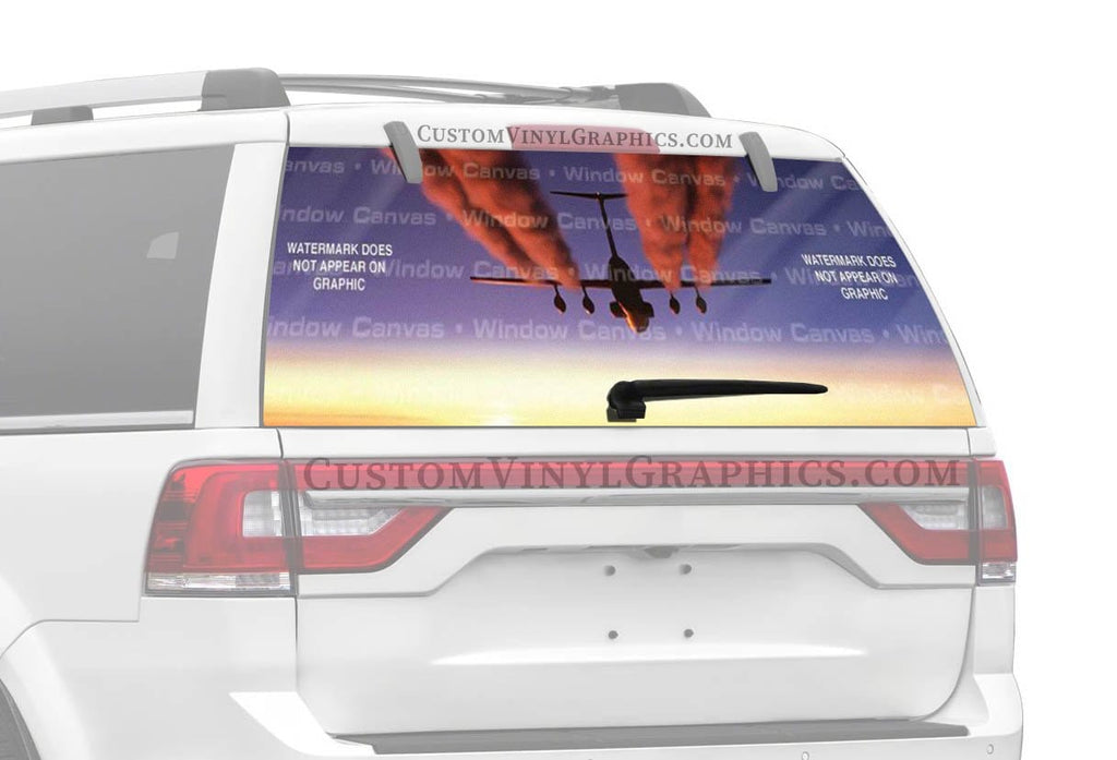Window Canvas Contrails Rear Window Graphic