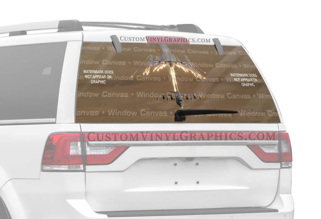 Window Canvas A Flair for Flares Rear Window Graphic