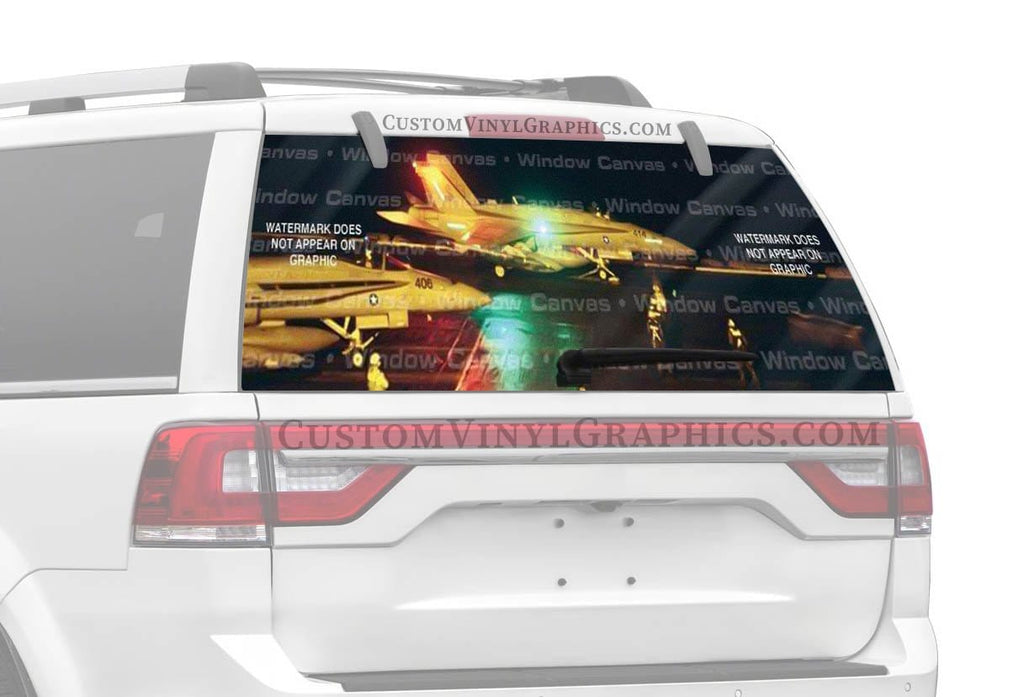 Window Canvas Night OPS Rear Window Graphic
