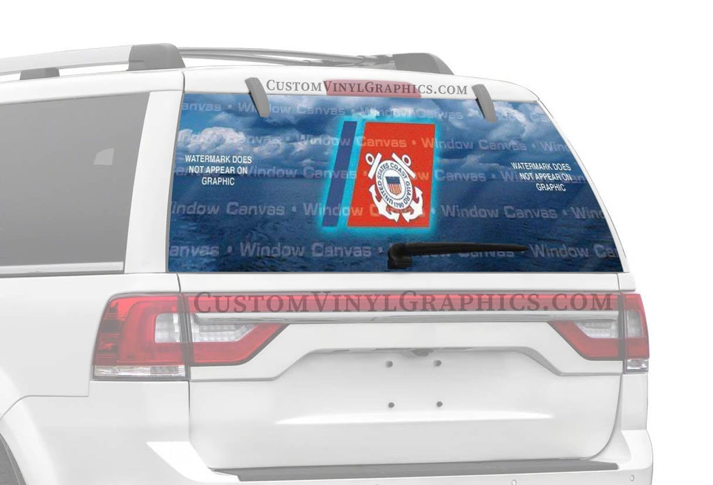 Window Canvas USCG Rear Window Graphic