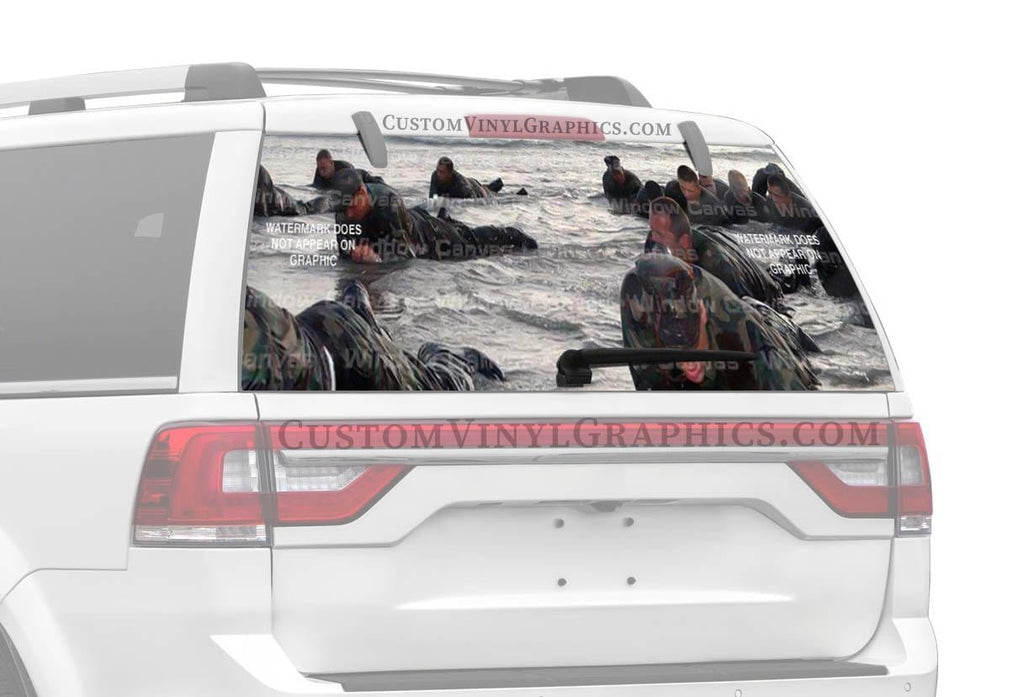Window Canvas Coming Ashore Rear Window Graphic